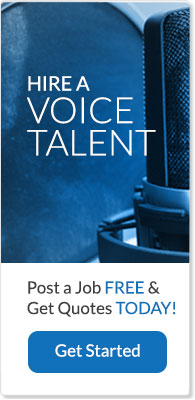 hire a voice talent banner