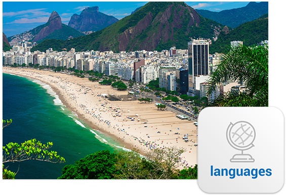 Thousands of Brazilian homes cascade across the grandiose mountains and beaches of Rio De Janeiro.