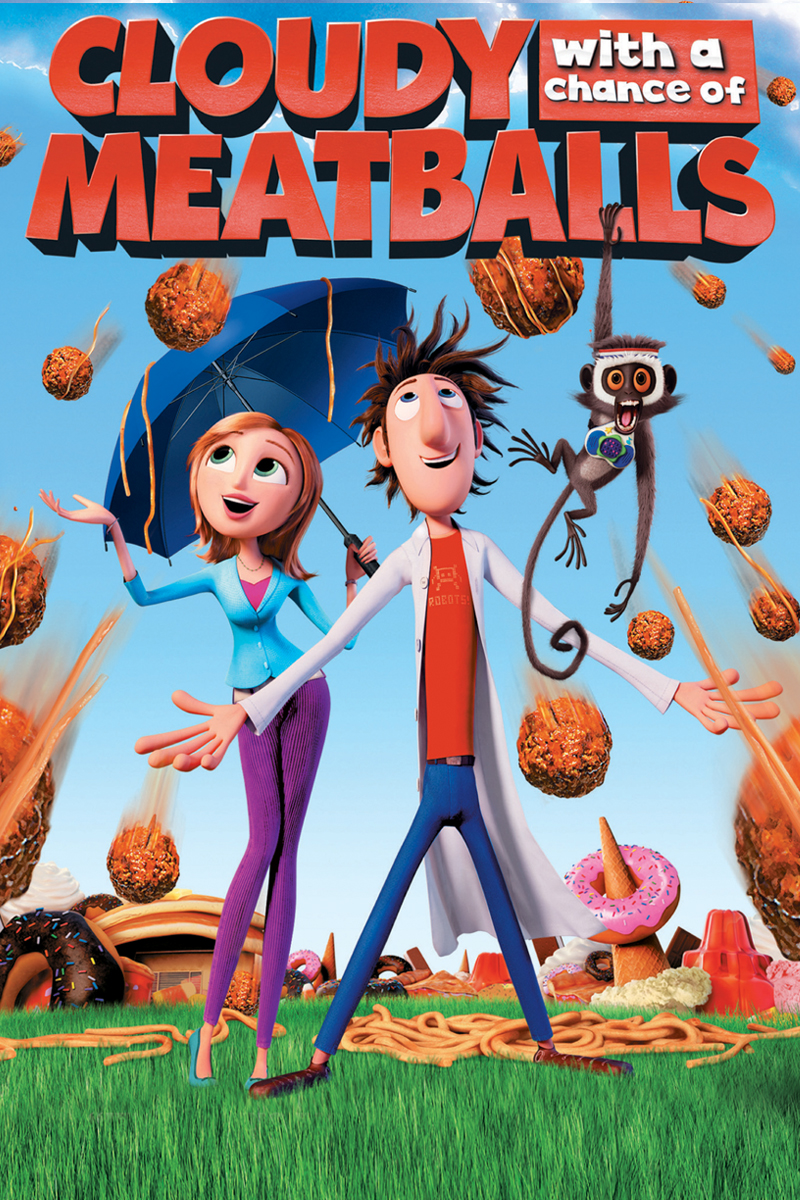 who were the voices in cloudy with a chance of meatballs voices com