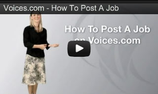 How To Post a Voice Over Job