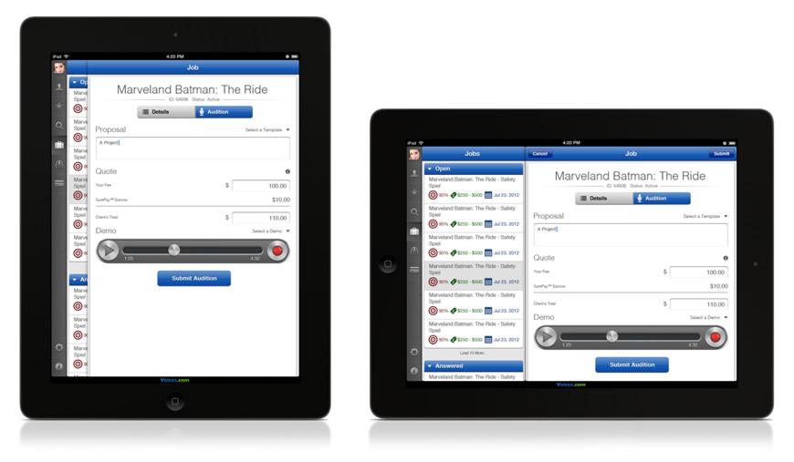 Speech writing service app for ipad