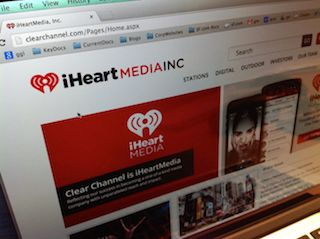 Clear Channel iHeartMedia Website Screen Shot