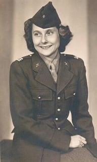Maman in uniform, Liz de Nesnera's mother
