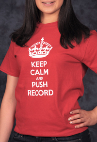 Keep Calm and push record t-shirt from VOXTees.biz