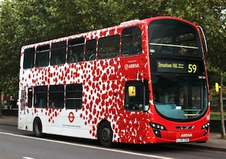 Transport for London Poppy Bus