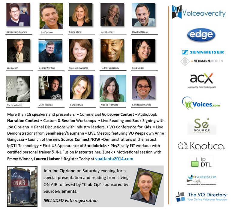 VO Atlanta 2014 poster with speakers and sponsors