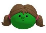 VeggieTales Pea Girl