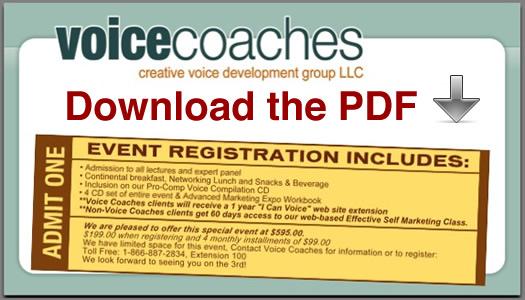 Voice Coaches Take Control- Marketing Event