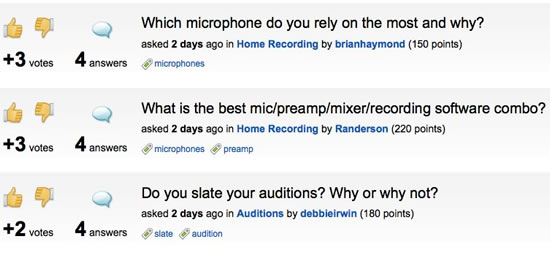 Voices.com Hot Questions