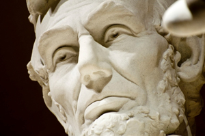 Abraham Lincoln face, Lincoln Memorial