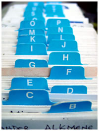 Alphabetical Index Cards