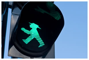 Ampelmann green walking man