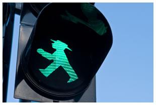 Ampelmann green walking man