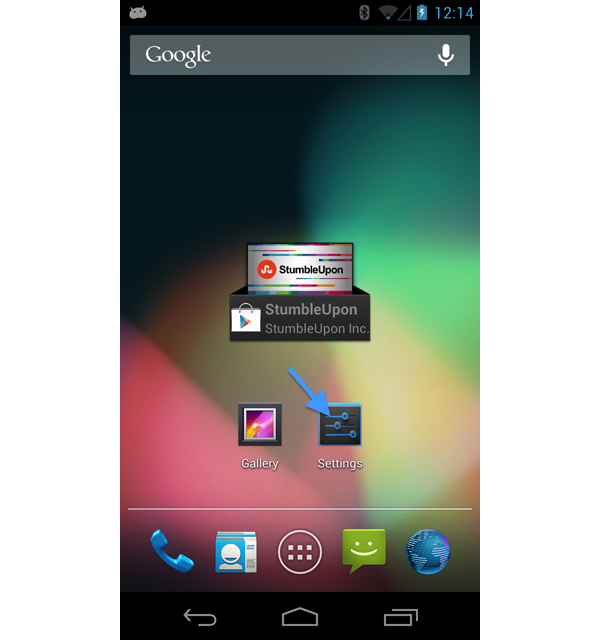 Android setting application