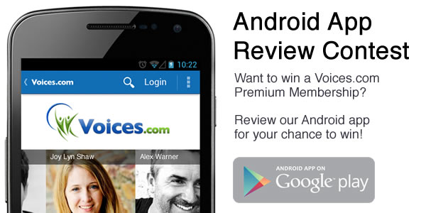 Voices.com Android app contest
