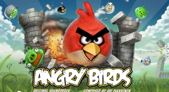 Angry Birds Game, images of birds, pigs, castle