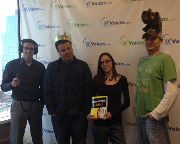 Ben Jackson, Grant Thomas, Melissa Kelman, Jeremy Eichler of Voices.com, silly picture