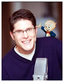 Bob Bergen with Porky Pig