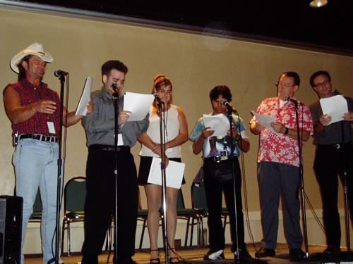 Botcon voice talent on mics