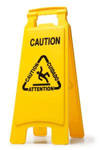 Caution, slippery when wet