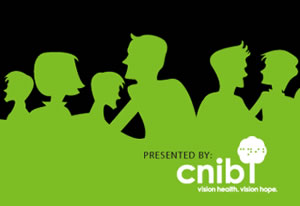 CNIB SENSEsation unGala silhouetted green people