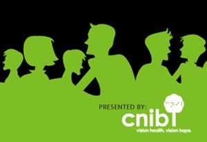 CNIB SENSEsation unGala silhouetted green people