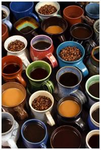 Coffee mugs beans