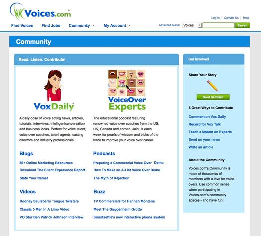 Voices.com Community