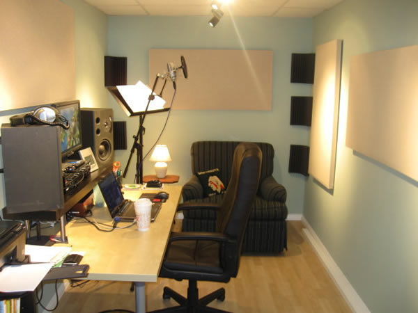 Finished Home Recording Studio