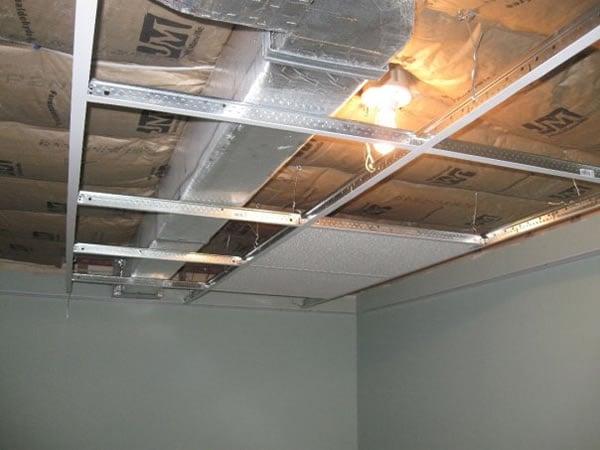 Suspension ceiling installation