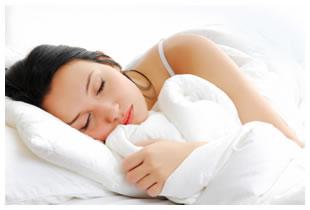Dark haired woman sleeping