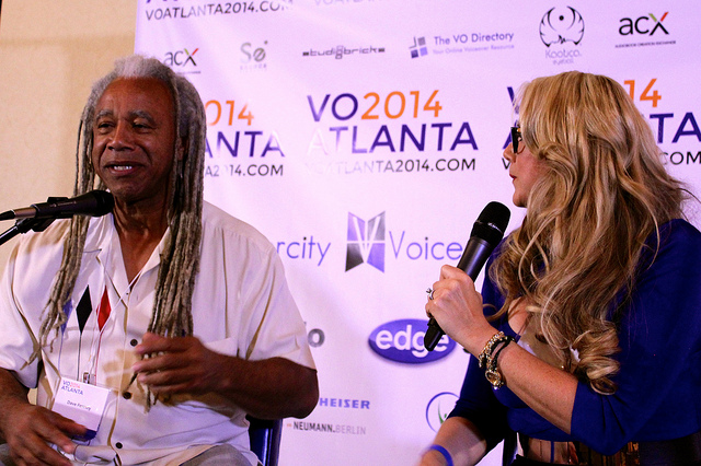 Dave Fennoy with Anne Ganguzza at VO Atlanta 2014