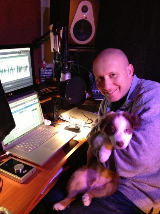 David Kaplan with dog (director!) Skye