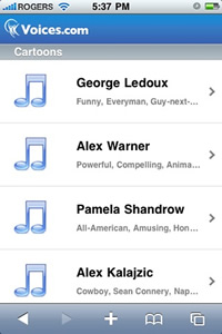 Voice Over Demos on iPhone