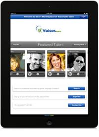 iPad app, Voices.com