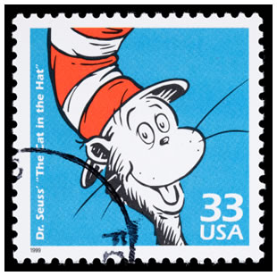 Dr. Seuss The Cat in the Hat postage stamp