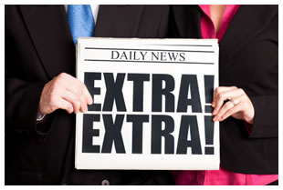 newspaper headline extra extra