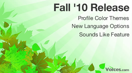 Fall 2010 Release at Voices.com