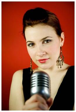 Fashionable female voice artist