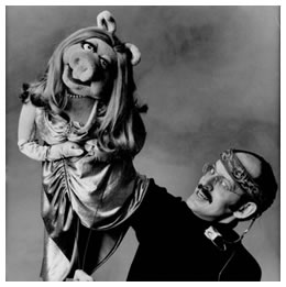 Frank Oz with Miss Piggy