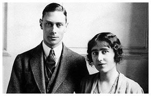 George VI with Queen Elizabeth, the Queen Mother