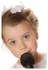 Girl Child with Microphone