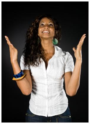 Grateful African American Woman