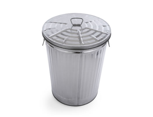 Gray Garbage Can