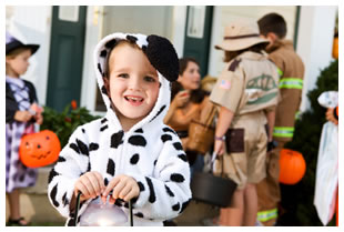 Halloween Cow trick or treat