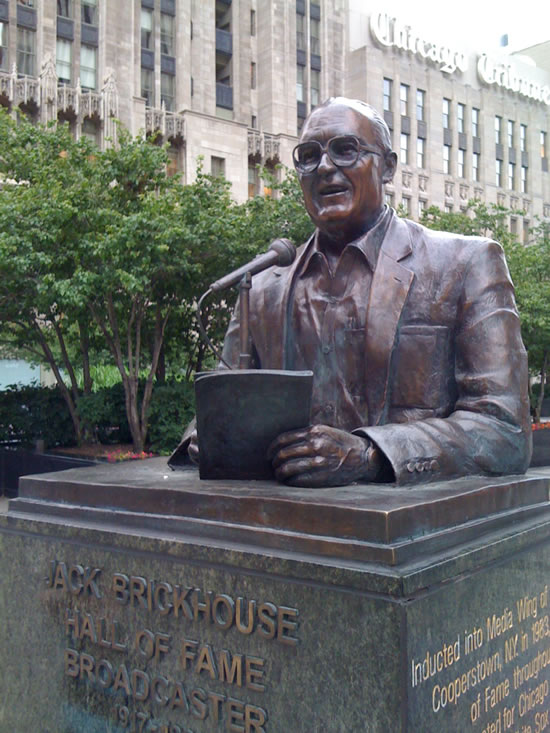 Jack Brickhouse Hall of Fame Monument in Chicago, IL