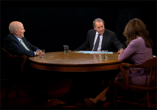 Jack and Suzy Welch being interviewed on Charlie Rose.
