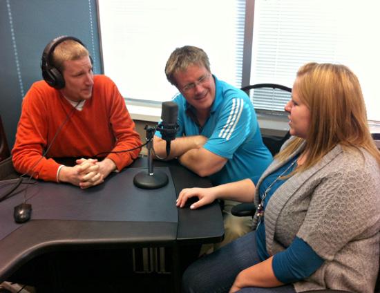 Jeremy Eichler, Scott Lumley and Jennifer Smith at Voices.com on December 12, 2012 12-12-12