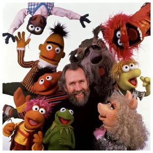 Jim Henson with Muppets