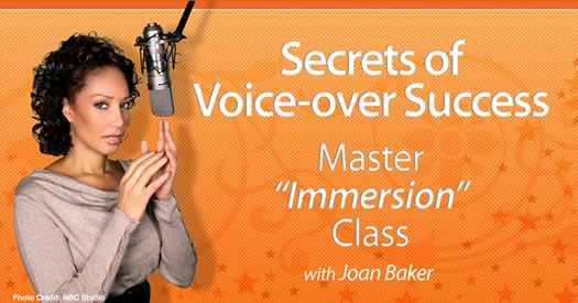 Joan Baker Voice Over Immersion Class